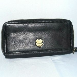 Lucky Brand Black Leather Waller Purse